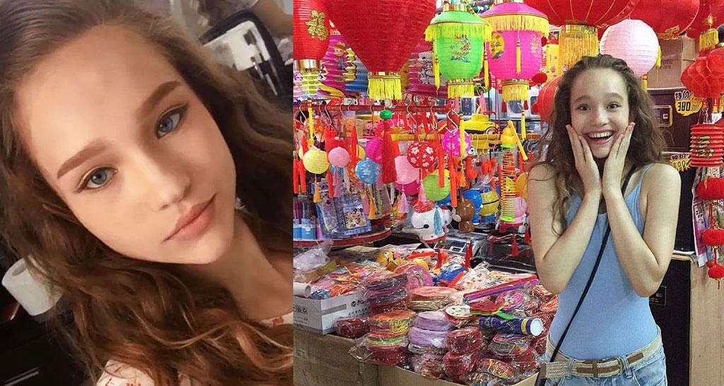 Саша Киселева - Съемки в Китае